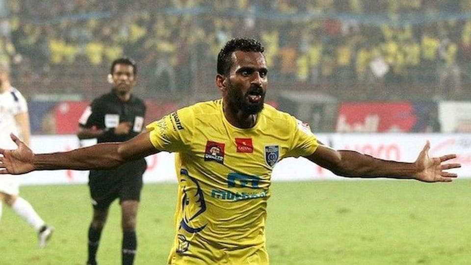 CK Vineeth has scored five goals in six matches for ISL.