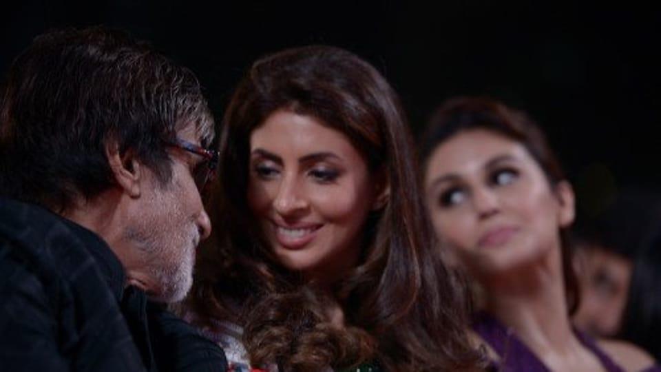 Amitabh Bachchan with daughter Shweta.