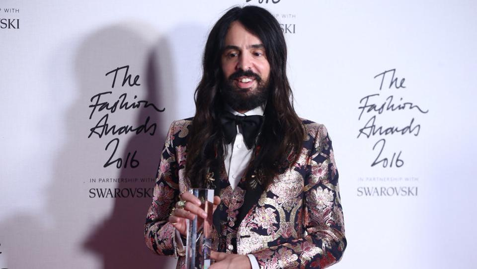 Alessandro Michele won the International Accessories Designer for Gucci.  (Reuters)
