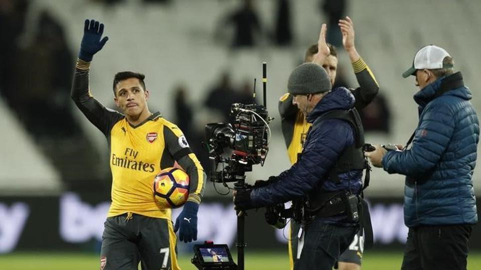 Arsenal's Alexis Sanchez scored a hat-trick against West Ham on Saturday.