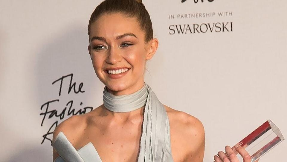 American supermodel Gigi Hadid was felicitated with the international model of the year award at the British Fashion Awards 2016 in London on Monday.