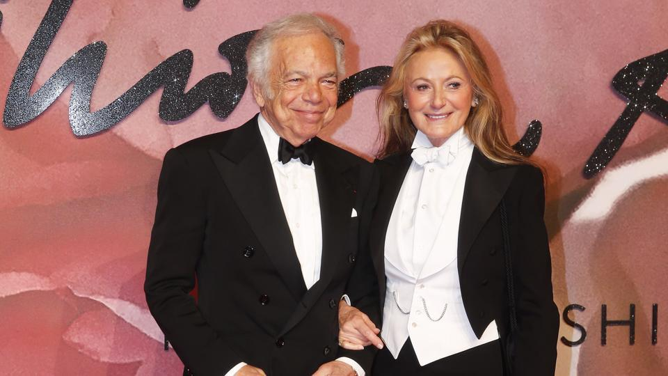 Designer Ralph Lauren with his wife Ricky Anne at the event. (Reuters)