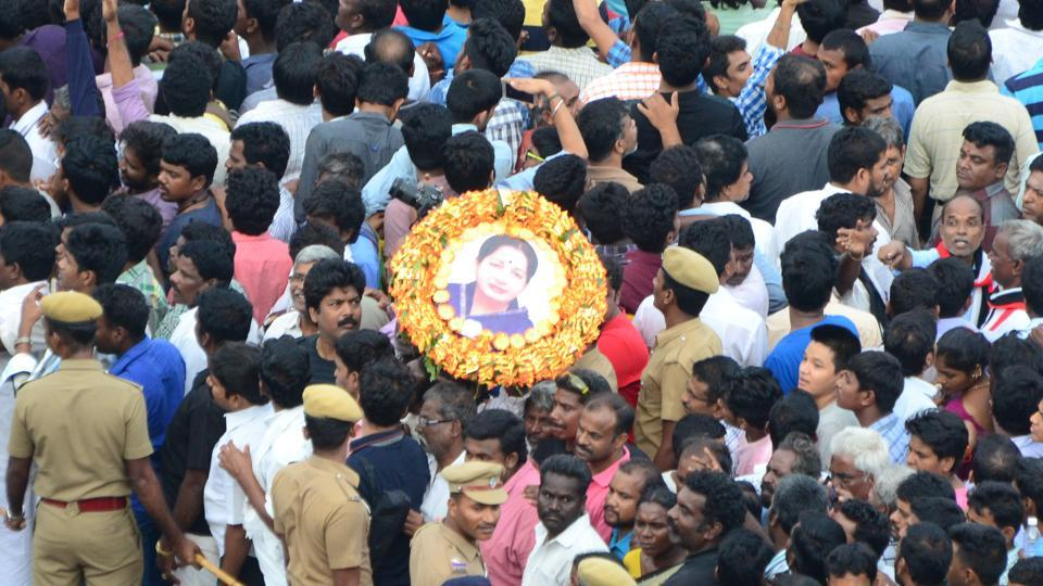 "Jayalalithaa's death has ""ripped our heart"". She drew parallels with her own political career."
