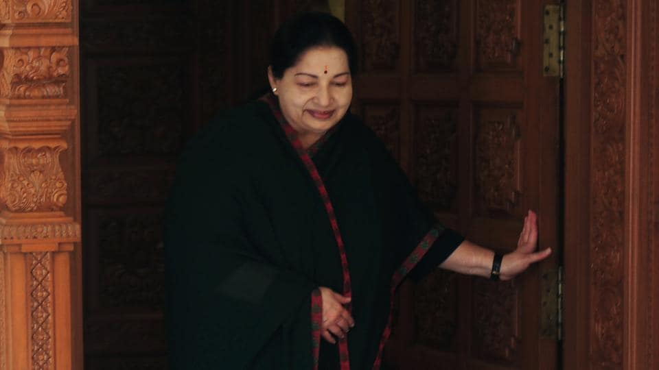 This file photo taken on May 19, 2016 shows All India Anna Dravida Munnetra Kazhagam(AIADMK) leader Jayalalithaa Jayaram coming out of her residence to address media in Chennai. Jayalalithaa Jayaram, the chief minister of south India's Tamil Nadu state and one of the country's most popular political leaders, died after a prolonged illness.
