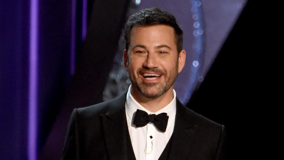 TV host Jimmy Kimmel during the 68th Emmy Awards in Los Angeles.