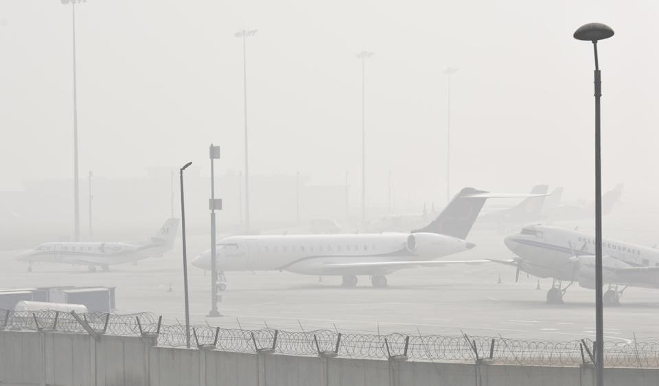 Delhi airport,fog,CAT-IIIB system
