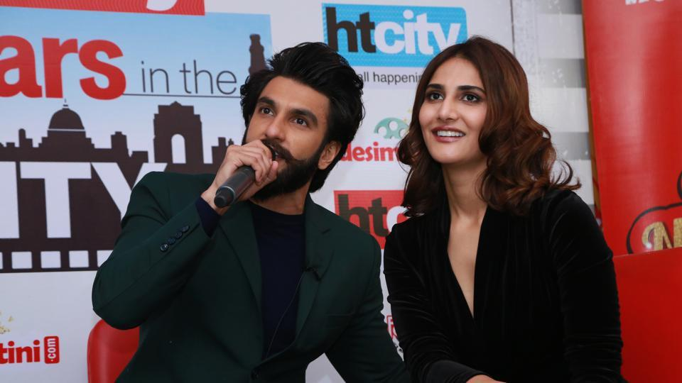 Dharam and Shyra from Befikre open up at Stars in the City. (AMAL KS /HT Photo)