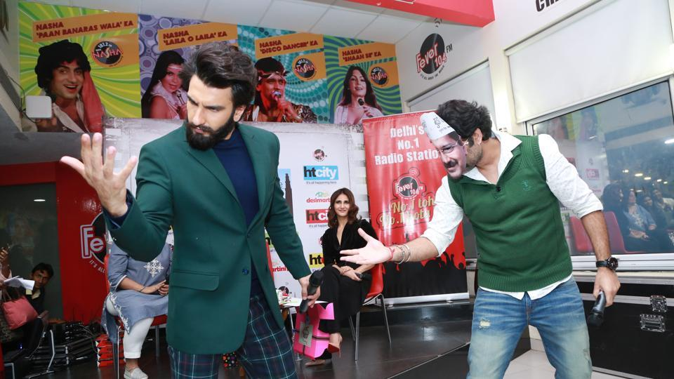 Ranveer, in this true avatar, was seen grooving with the fans. (AMAL KS /HT Photo)
