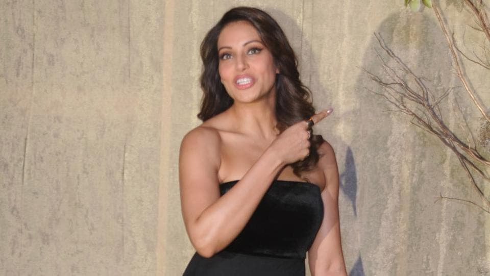 Bipasha Basu makes a gesture. (AFP)