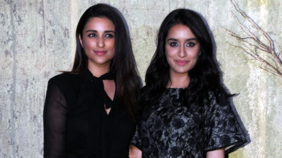 Parneeti Chopra and Shradha Kapoor pose together. (AFP)