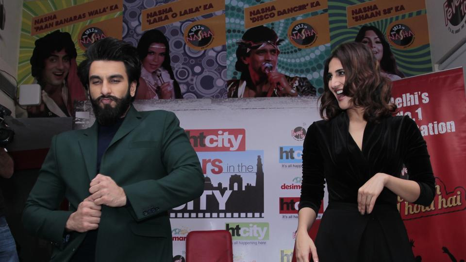 Vaani and Ranveer shake a leg on the songs of Befikre. (SHIVAM SAXENA /HT Photo)