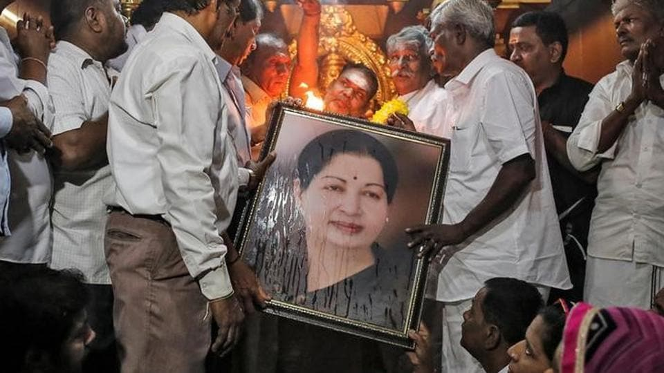 Jayalalithaa's death has left the AIADMK without a powerful and unifying leader.