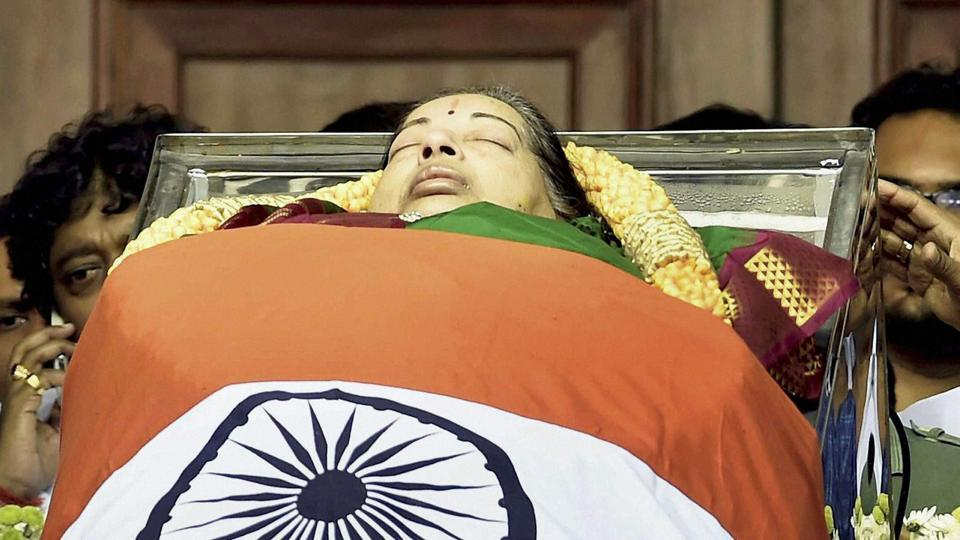 The movie-star-turned politician with a huge following died at Chennai's Apollo Hospital on Monday. She was 68. (PTI)