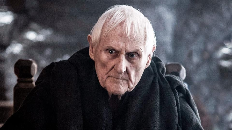Partially sighted in real life, in Game of Thrones Peter Vaughan played the blind maester of Castle Black, one of the lord commander's closest advisors in the Night's Watch. He was later revealed to be Aemon Targaryen.