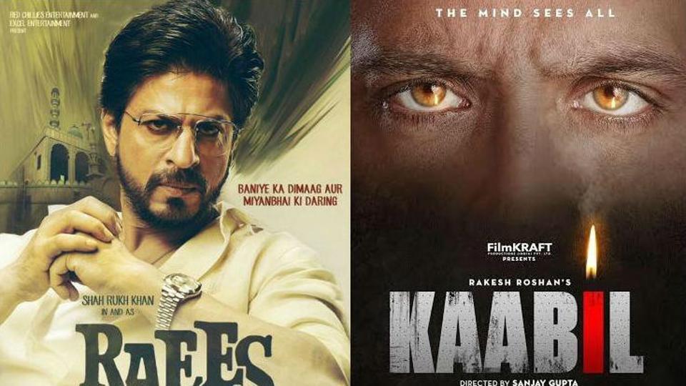 Raees,Kaabil,Shah Rukh Khan