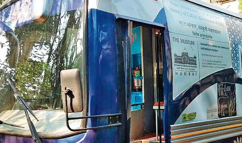 Started in 2015, the CSMVS Museum on Wheels project is a bus with exhibitions on different themes that are changed every six months.