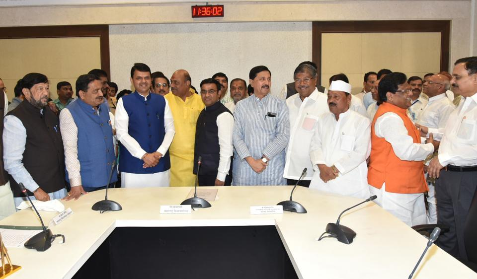 Maharashtra chief minister Devendra Fadnavis in Nagpur on Tuesday.  HT, in June this year, had reported about the state government's decision on the special township policy, with an objective to set up more smart cities across the Mumbai Metropolitan Region (MMR) and other cities of Maharashtra.