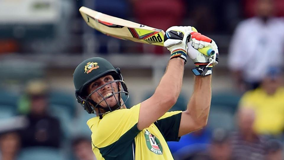 Australia batsman Mitchell Marsh hit 76 not out from 40 balls in the second ODI vs New Zealand in Canberra on Tuesday.