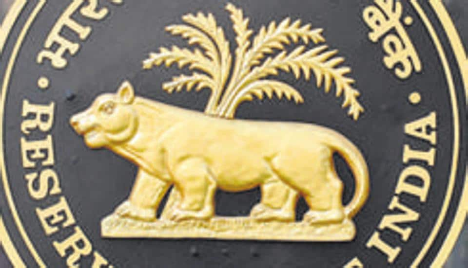 Logo of the Reserve Bank of India (RBI) outside its headquarters in Mumbai on January 29, 2010.