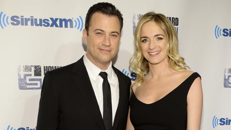 Talk show host Jimmy Kimmel with his wife Molly McNearney.