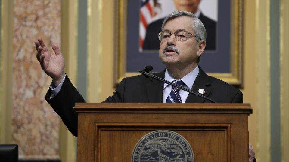 Branstad was also an early supporter of Trump's campaign. His son Eric served as the state director for the real estate tycoon's campaign in Iowa.
