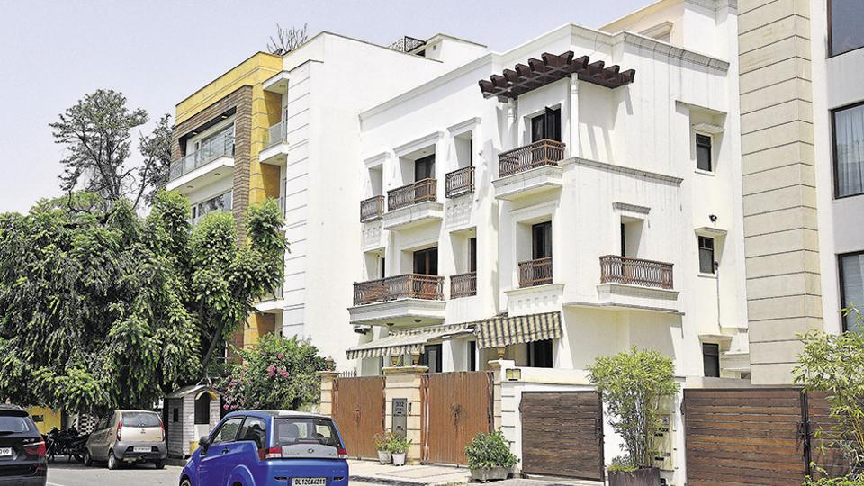 A housing colony in New Delhi. Matters related to land and property make up about two-thirds of all civil cases in India.