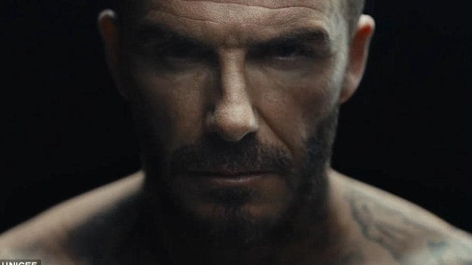 "At the end of the video for Unicef against child abuse, David Beckham, the former Manchester United and Real Madrid star, says, ""violence against children marks them forever. It's wrong, end it."""