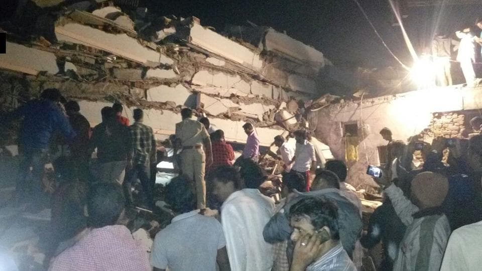 A seven-storey building collapsed in Nanakramguda area of Hyderabad.