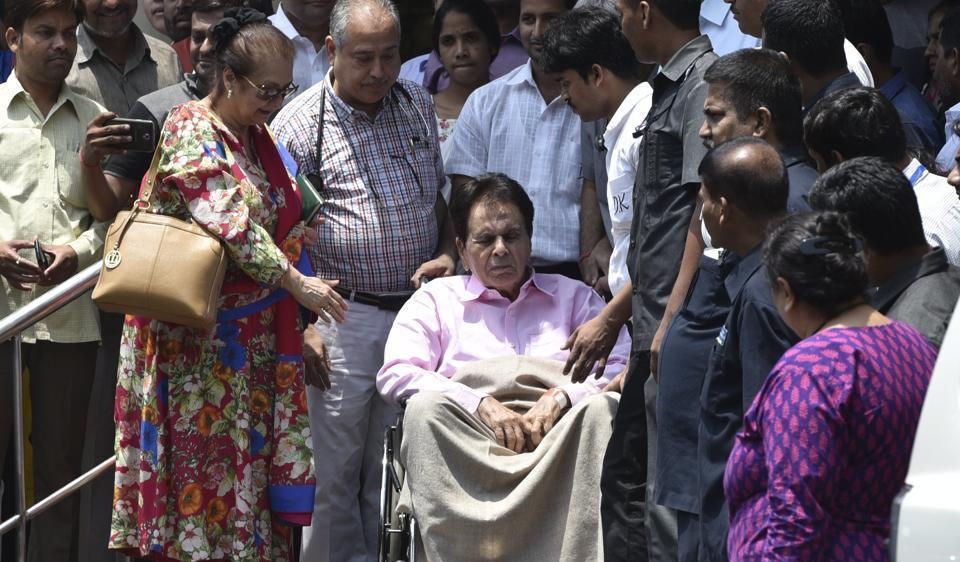Veteran actor Dilip Kumar and his wife Saira Banu