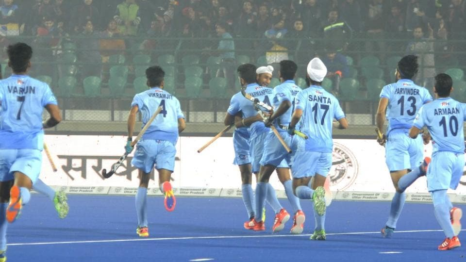 India defeated Canada 4-0 in their first match of 2016 Hockey Junior World Cup. (HT Photo)