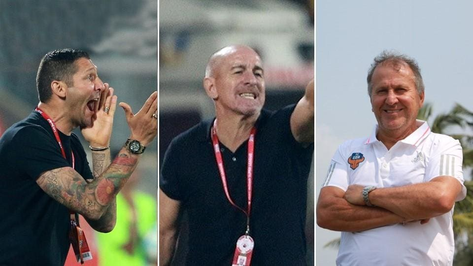 (From left) Marco Materazzi, Antonio Habas and Zico have not shown great form during this season of ISL.