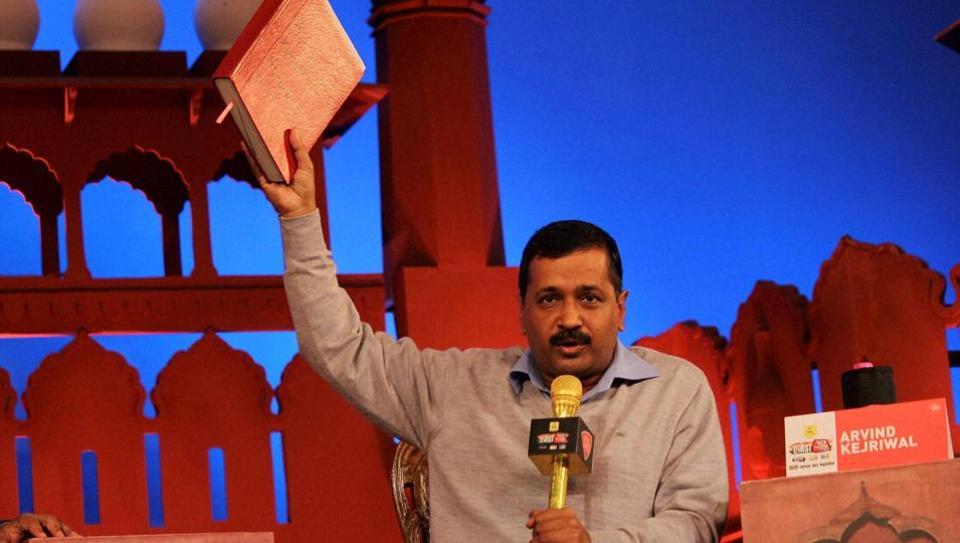 Delhi chief minister Arvind Kejriwal speaks at Agenda Aaj Tak, in New Delhi.