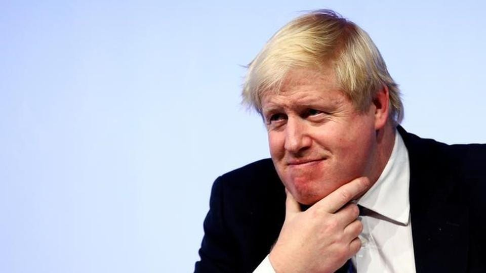 File photo of British foreign secretary Boris Johnson at the Rome MED2 Mediterranean Dialogues forum in Rome on December 1, 2016.