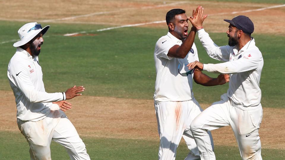Ravichandran Ashwin picked up 4/75 as England ended day one of the Wankhede Test at 288/5.