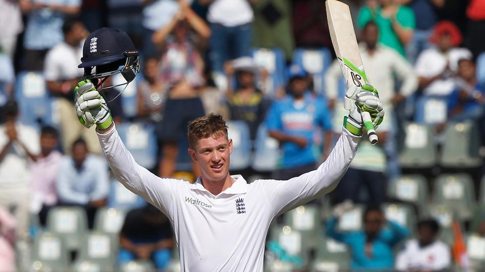 Keaton Jennings became the third England player to score a century on debut in India.