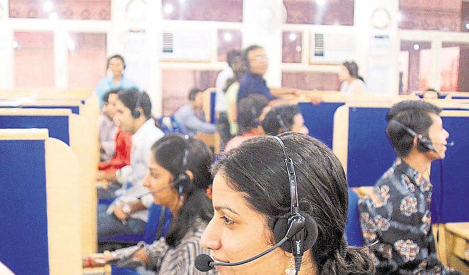 A person can view the complete status of his complaint by online using his token number or calling the  call centre.