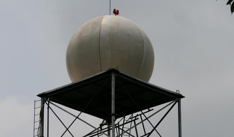 A Doppler radar must have no skyscrapers around.
