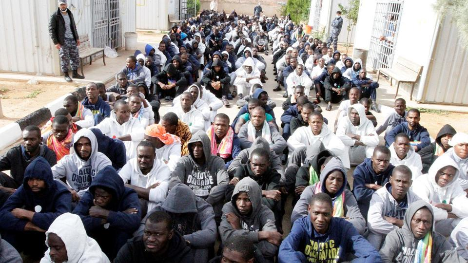 Illegal migrants detained after trying to get to Europe.