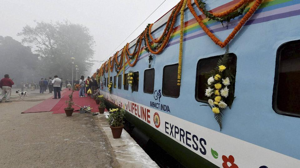 The two new coaches of the Lifeline Express were inaugurated at New Delhi Railway Station in New Delhi.