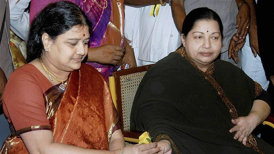 In this file photo, Sasikala Natarajan is seen with late Tamil Nadu chief minister J Jayalalithaa.