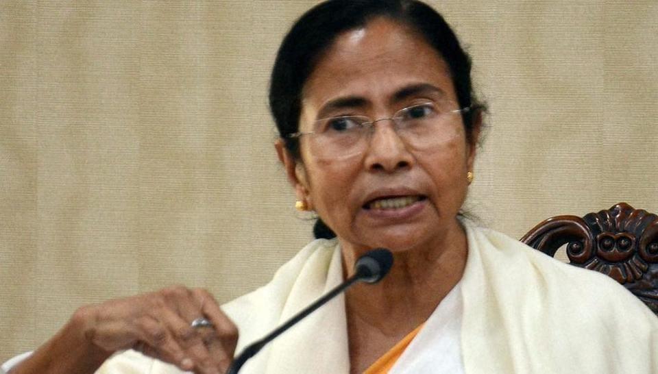 West Bengal chief minister Mamata Banerjee addresses the media in Kolkata.