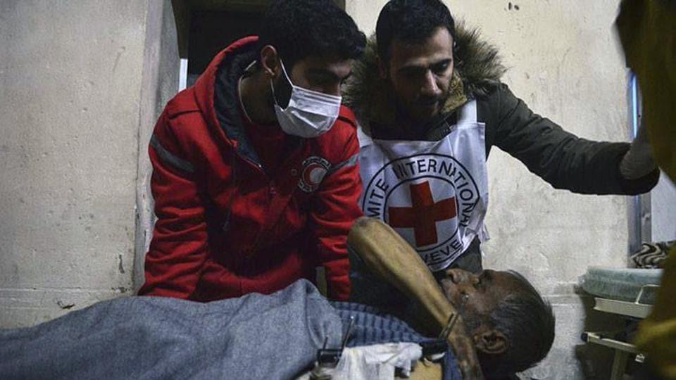 Aleppo,Red Cross,Dar al-Safaa