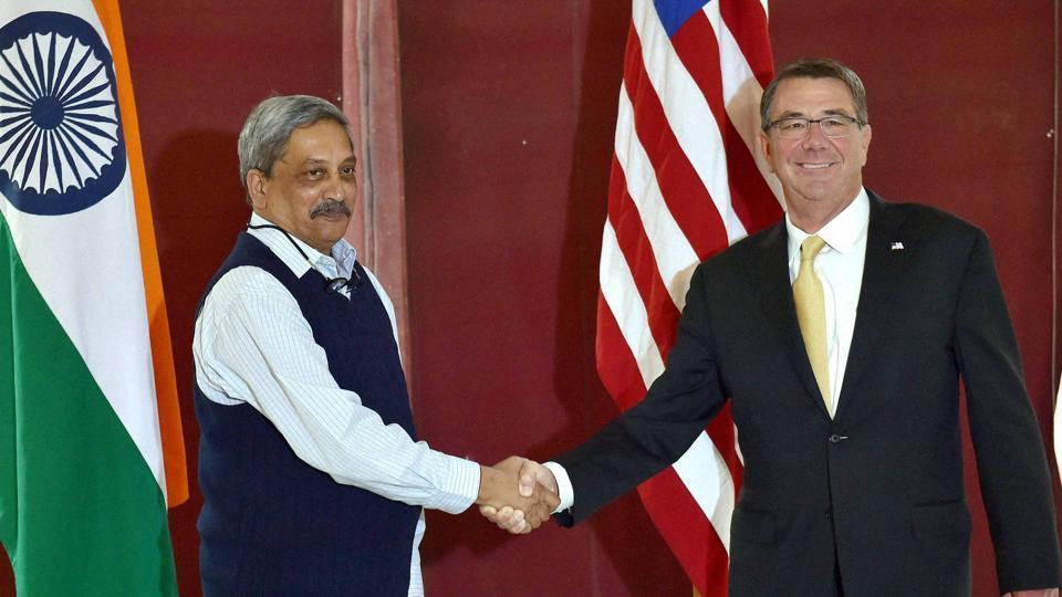 Manohar Parrikar,Ashton Carter,US defense secretary