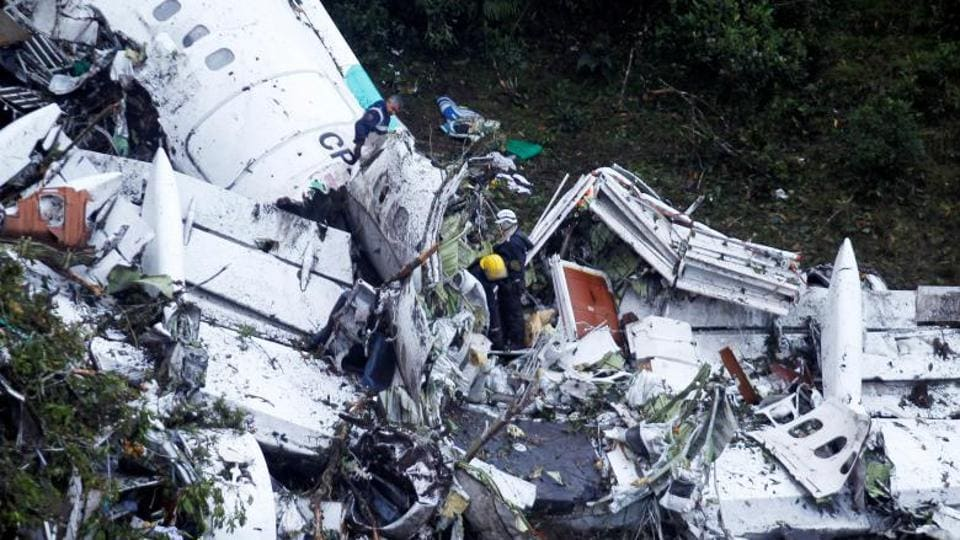 The crash happened in Colombia late last month, killing 71 people after the plane allegedly ran out of fuel.