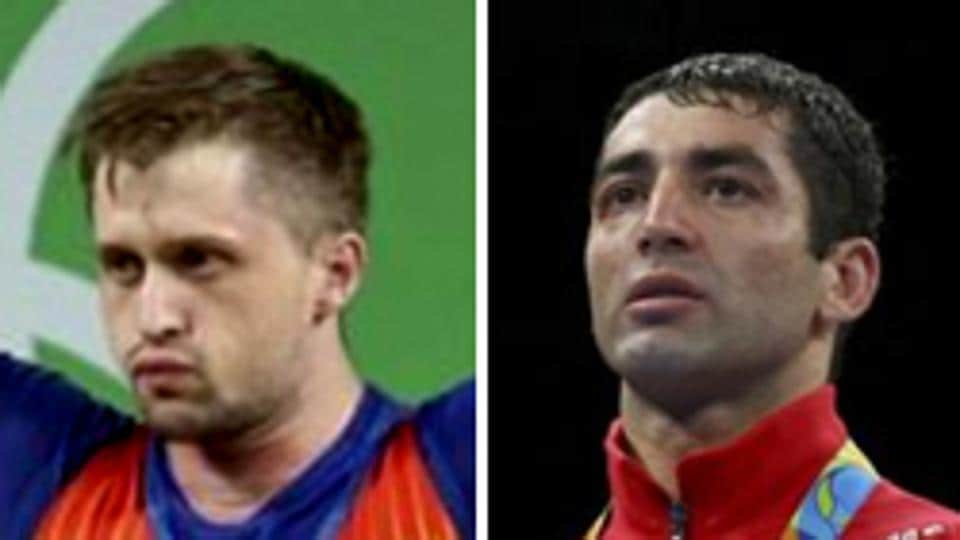 Romanian weightlifter Gabriel Sincraian (left) and Russian boxer Misha Aloian have been stripped of their Rio Olympic 2016 medals after failing doping tests at the Games
