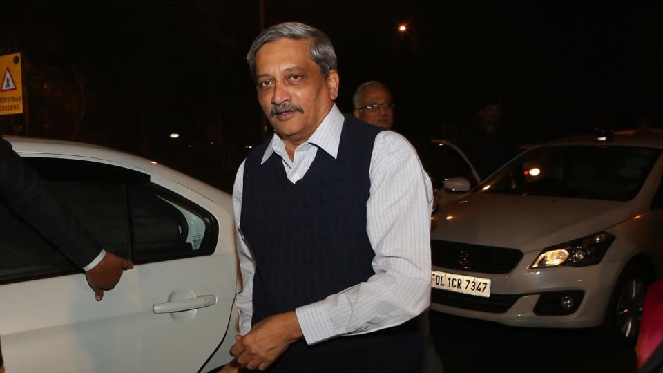 Union defence minister  Manohar Parrikar at the wedding reception (Manoj Verma/HT Photo)