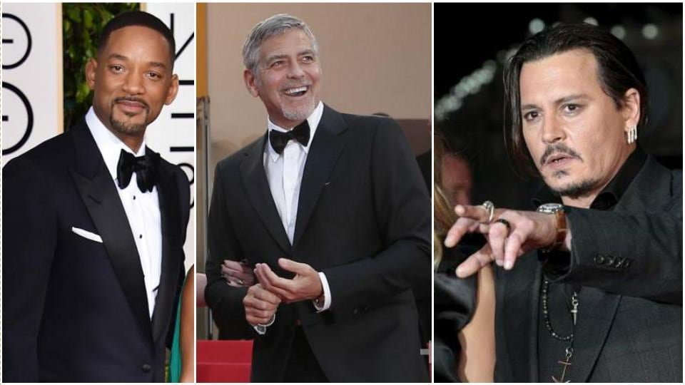 Johnny Depp,Will Smith,George Clooney