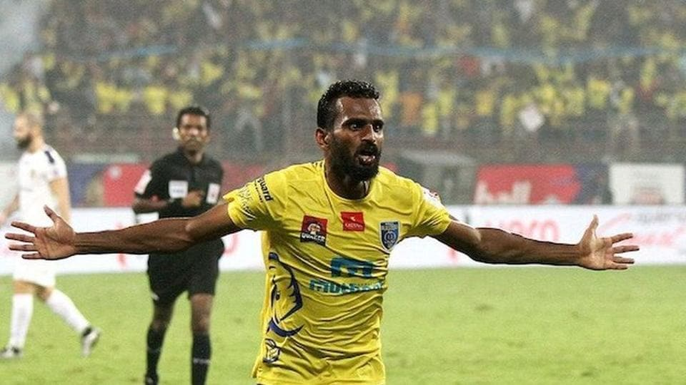 CK Vineeth has scored 5 goals in his 6 games for Kerala Blasters.