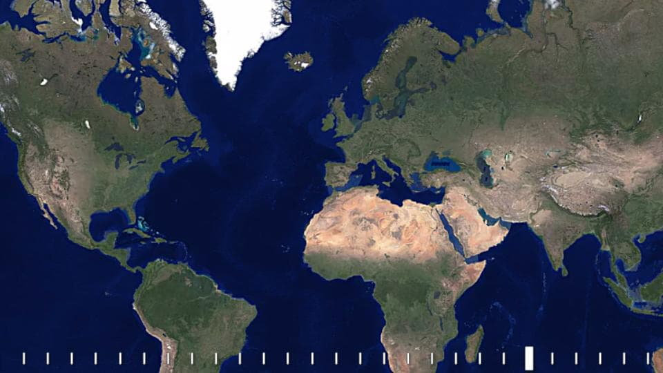 The Google Earth Engine's Timeline feature lets you explore regions across the globe and see how they have evolved and transformed since 1984.