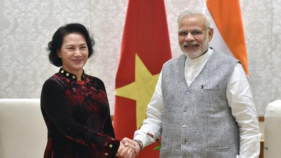 Nguyen Thi Kim Ngan, president of the National Assembly of Vietnam meets PM Modi in New Delhi.